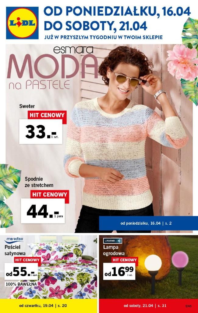Газетка Lidl 16.04-21.04