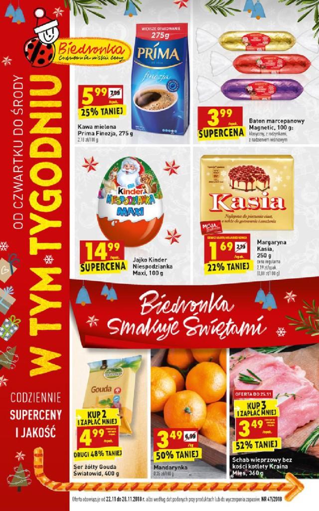 Газетка Biedronka 22.11-28.11