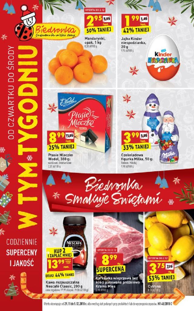 Газетка Biedronka 29.11-05.12